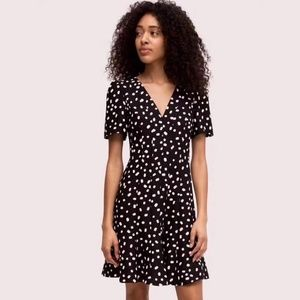 NWOT Kate Spade mallow dot crepe dress